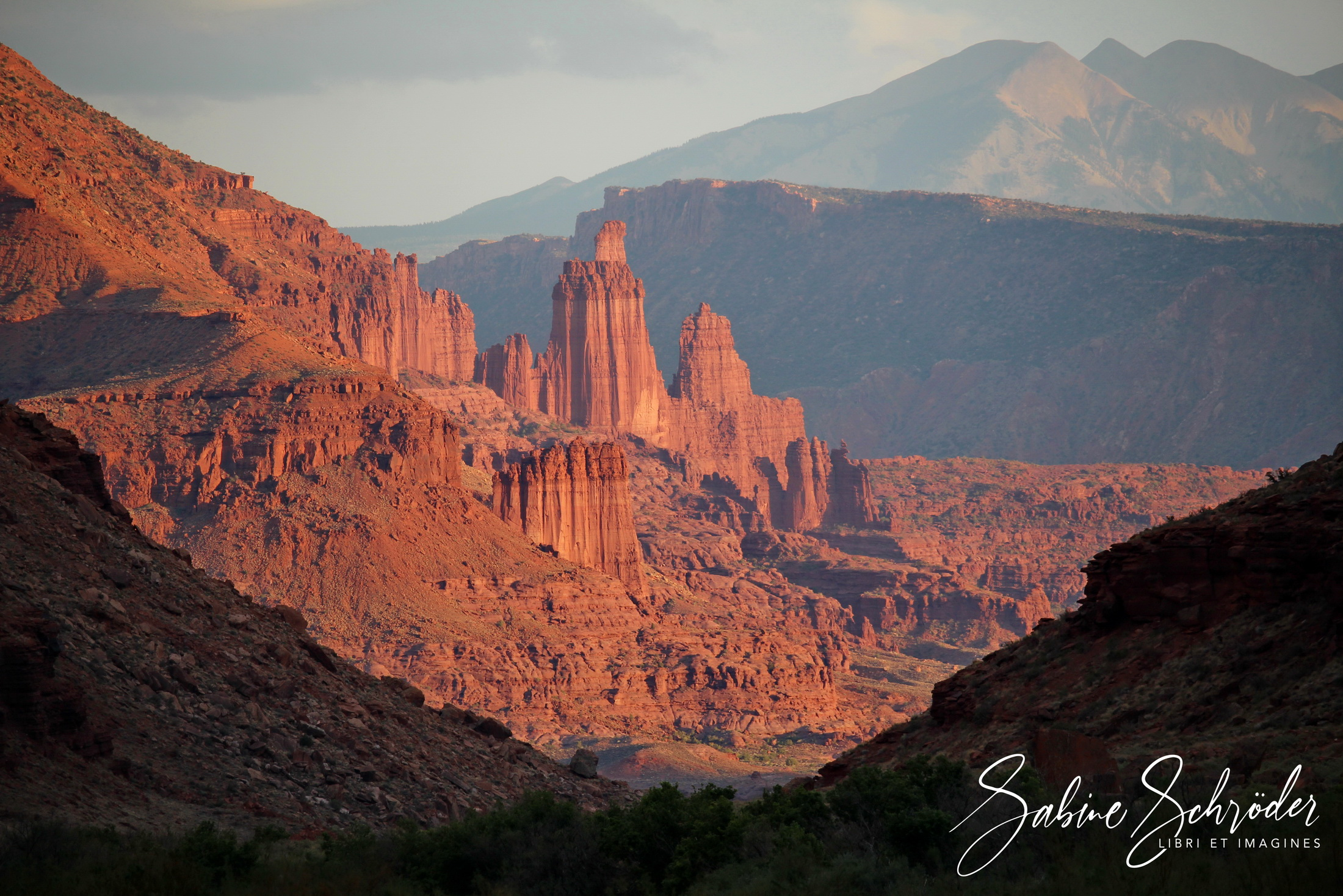 Fisher Towers + La Sal Mountains